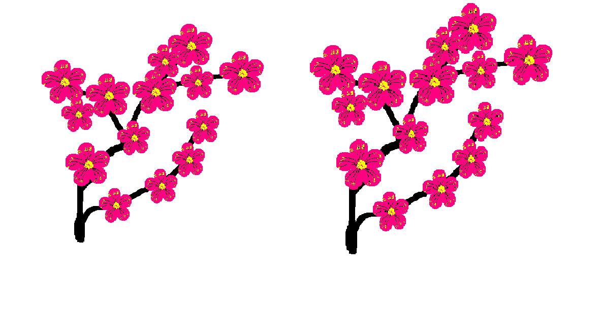 电脑绘画--梅花朵朵开