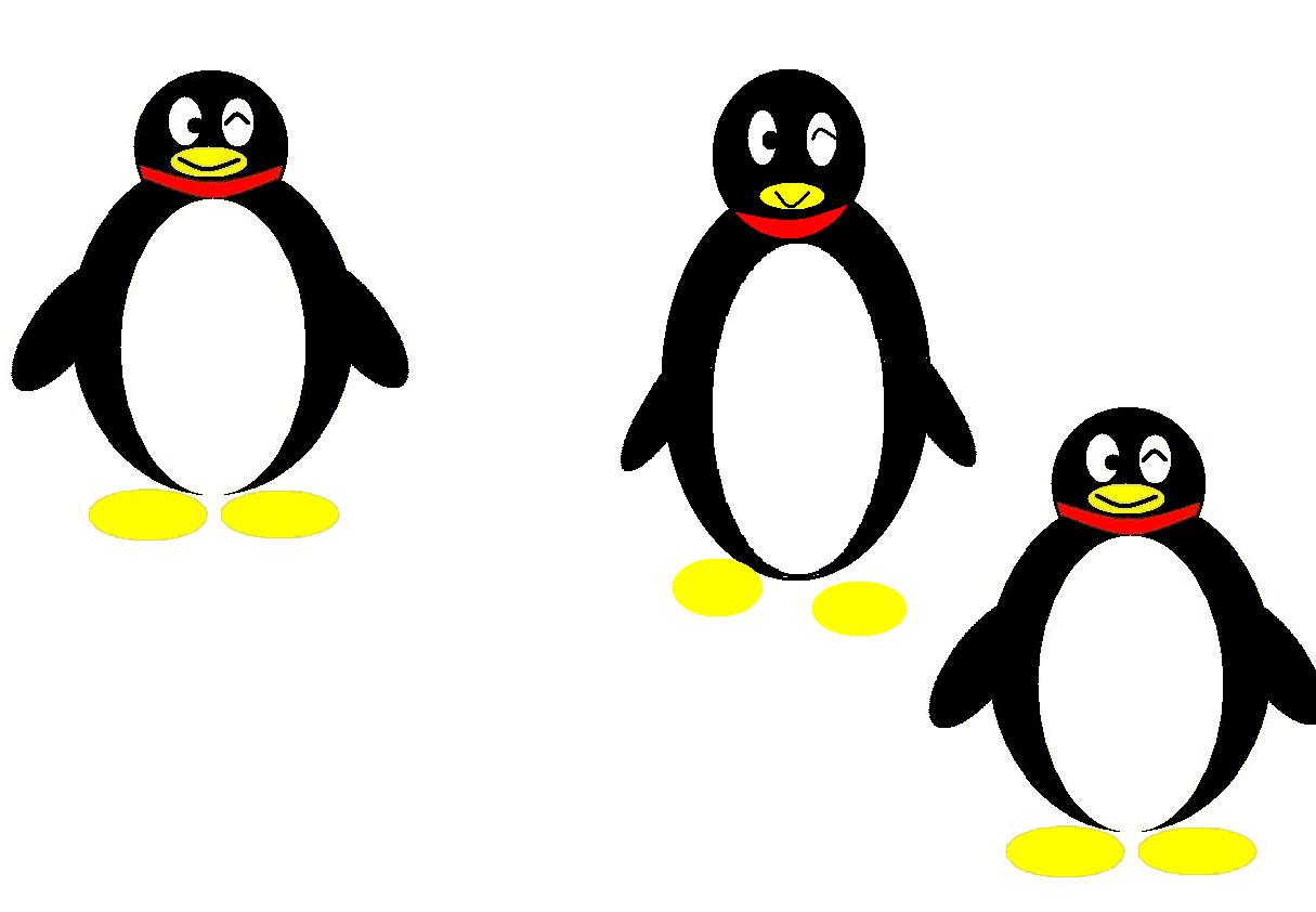 电脑绘画--企鹅