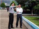 区委副书记童炜鑫到校视察。